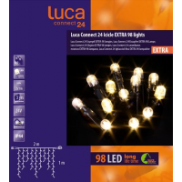 Luca connect 24 led icicle lights 98 lampjes - afbeelding 1