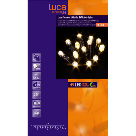 Icicle luca connect 24 led 49 lampjes warm wit - afbeelding 1